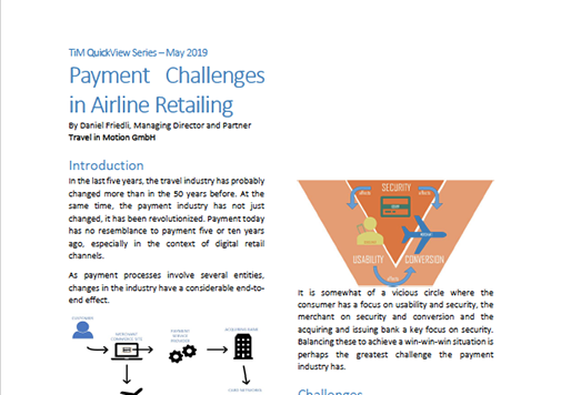 QuickView Payment Challenges in Airline Retailing